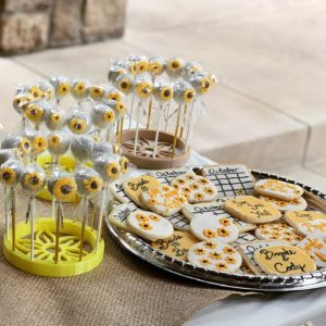 Sunflower Cake Pops and Cookies