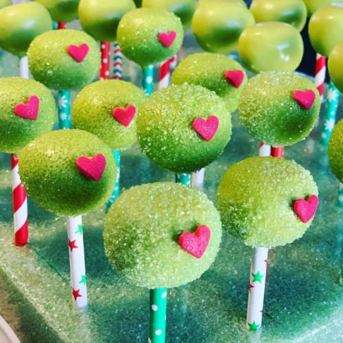The Grinch's Heart Cake Pops