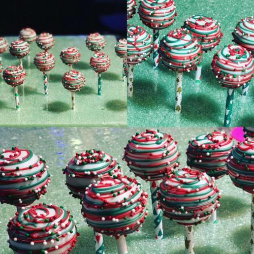 Christmas Color Cake Pops