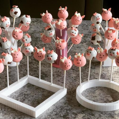 Pig and Cow Cake Pops