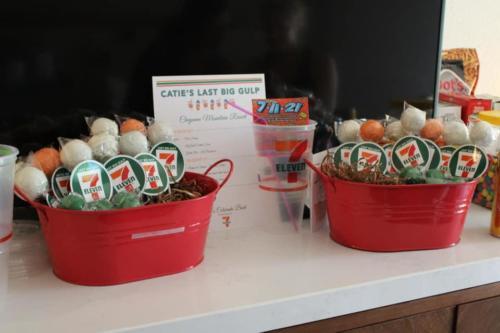 7 Eleven Bachelorette Cake Pops